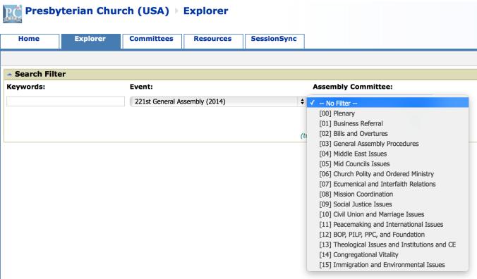 Presbyterian Church (USA)  Explorer screen shot
